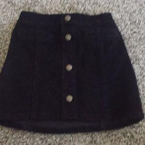 Girls Black Corduroy skirt
